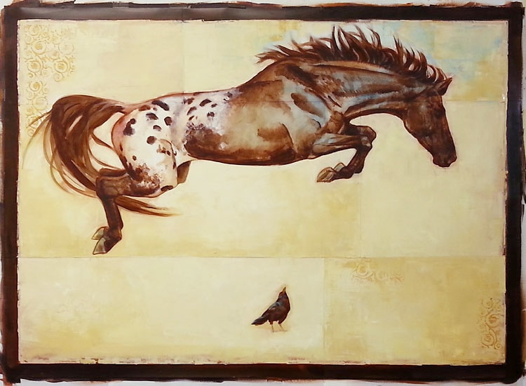 "S. C.Versillee - ""Horse Over Crow"""