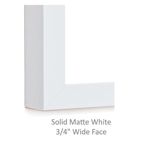 Solid Matte White Frame