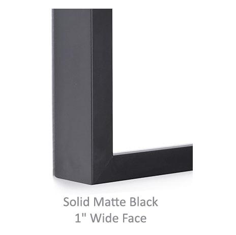 Solid Matte Black Frame