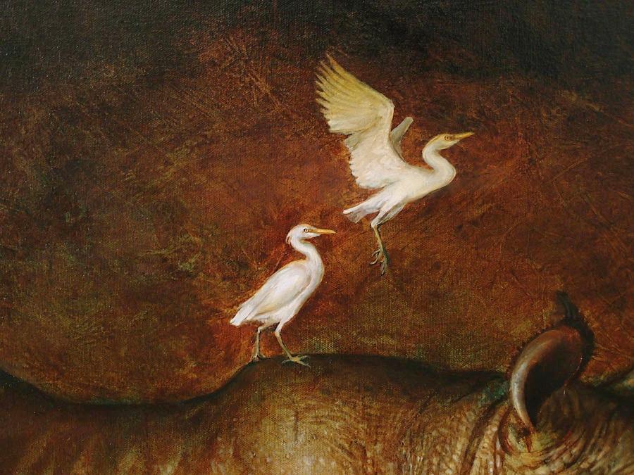 WIP - Detail: Cattle Egrets