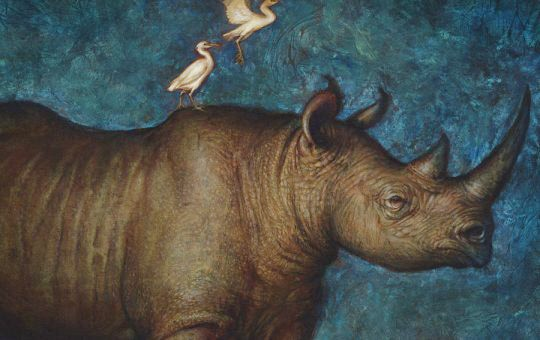 "Art For a Cause – Finishing Up ""Once, There Were Black Rhinos"""